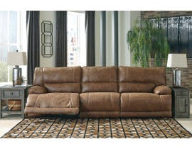 Signature Design by Ashley 3-Piece Reclining Sofa with Power in Saddle 55801S2