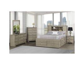 Modern Furniture 6pc Queen Storage Bedroom Set in Continental Coast 5600