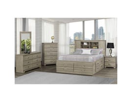 Modern Furniture Engineered Wood 6 Pc Double Bed Set in Continental Coast 5600