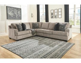 Signature Design by Ashley Bovarian Series 3 Pc LAF Sofa w/Corner Wedge Sectional in Stone 56103