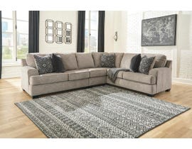 Signature Design by Ashley Bovarian Series 3 Pc RAF Sofa w/Corner Wedge Sectional in Stone 56103