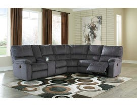 Signature Design by Ashley 3-Piece Reclining Sectional in Charcoal 57201S2