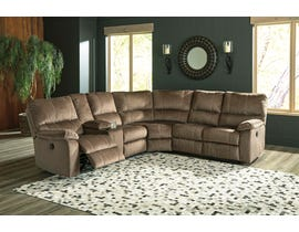 Signature Design by Ashley Urbino Collection 3-Piece Reclining Sectional in Mocha 57202S2