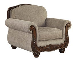 Signature Design by Ashley Cecilyn fabric chair in cocoa brown 5760320