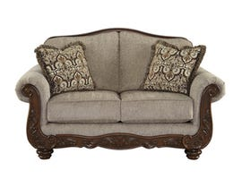 Signature Design by Ashley fabric cecilyn loveseat in cocoa brown 5760335
