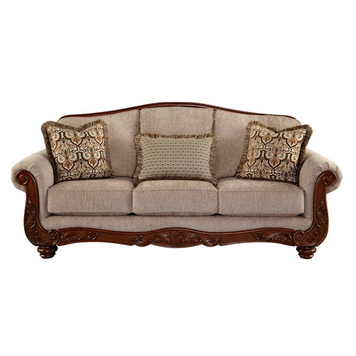 Signature Design by Ashley Cecilyn Series Fabric Sofa in Cocoa Grey 5760338