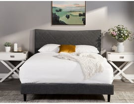 M.A.Z. Rosemary Upholstered King Bed in Dark Grey 5829