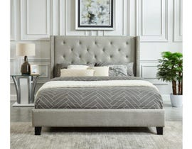 M.A.Z. Furniture Fabric Bed in Grey 5830