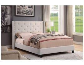 M.A.Z. Furniture Fabric Bed in Beige 5830