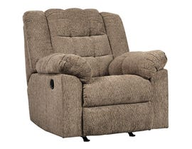 Signature Design by Ashley Workhorse Collection Fabric Rocker Recliner in Cocoa 5840125