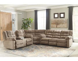 Signature Design by Ashley Workhorse Collection Fabric Sectional in Cocoa 58401-88-77-94