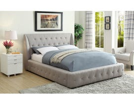M.A.Z. Vienna Series Upholstered Platform King Bed in Grey 5857