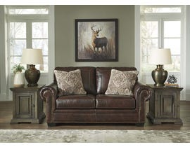 Signature Design by Ashley Roleson Series Leather Loveseat in Walnut 5870235