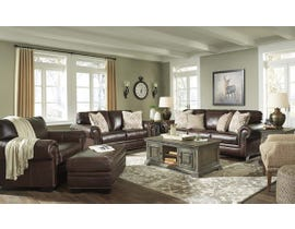 Signature Design by Ashley Roleson Series 3pc Faux Leather Sofa Set in Walnut 5870223-35-38