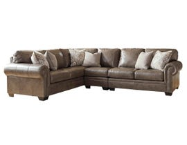 Signature Design by Ashley Roleson Series LAF CornerSectional in Quarry 58703