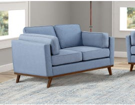 Brassex Jaxon Collection Fabric Loveseat in Blue 8220