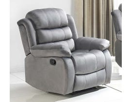 Brassex Simone Series Simone Recliner Chair in Grey 6014