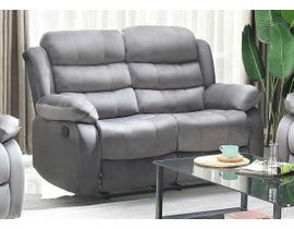 Brassex Simone Series Recliner Loveseat in Grey 6014