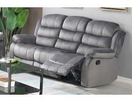 Brassex Simone Series Recliner Sofa in Grey 6014