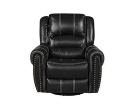 Fresh Leather Air Recliner in Black 6019c