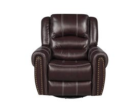 Fresh Leather Air Recliner in Brown 6019c