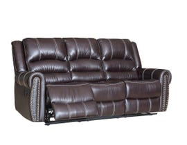 Fresh Leather Air Reclining Sofa in Brown 6019