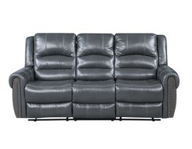 Fresh Leather Air Reclining Sofa in Grey 6019