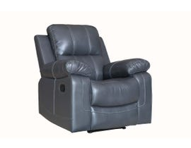 Fresh Leather Air Recliner in Grey 6020