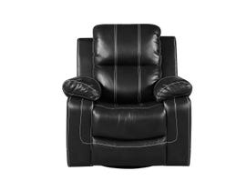 Fresh Leather Air Recliner in Black 6020