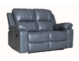 Fresh Leather Air Reclining Loveseat in Grey 6020