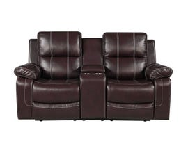 Fresh Leather Air Reclining Loveseat in Brown 6020