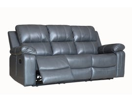 Fresh Leather Air Reclining Sofa in Grey 6020