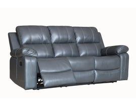 Fresh Leather Air Reclining Sofa in Grey 6020