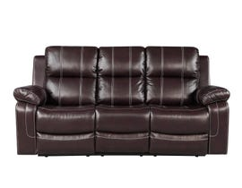 Fresh Leather Air Reclining Sofa in Brown 6020