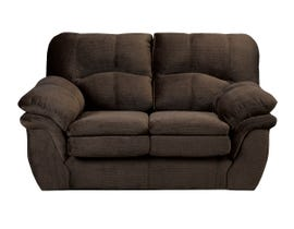 Sofa by Fancy Chandler collection, pillow top arms fabric loveseat in Avery Brown finish 6050-2