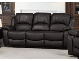 Brassex Boris Recliner Sofa with Fold-Down Tray in Dark Brown 6060-S-CH