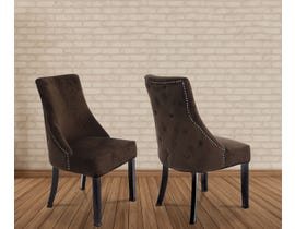 Kwality Roman Series Micro Suede Fabric Chair in Brown 6064-BR (2 Per Box)
