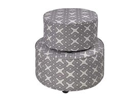 K LIVING Tegan Ottoman in Brown 608201-BR (Set of 2)