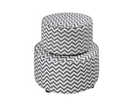 K LIVING Tegan Series Ottoman in Grey 608201-GR (Set of 2)