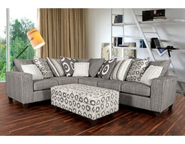 Minas Furniture House Fabric LHF Corner Sectional in Grey 6085