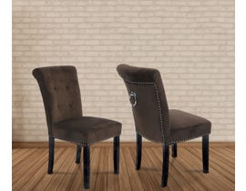 Kwality Harold Series Micro Suede Fabric Chair in Brown 6086-BR (2 Per Box)