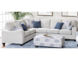 Flair Furniture Chenille Fabric RHF Sectional in Light Grey