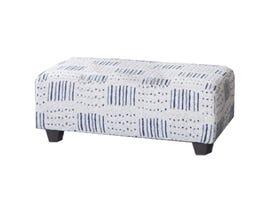 Flair Furniture Fabric Ottoman in Sutton Blue 6090