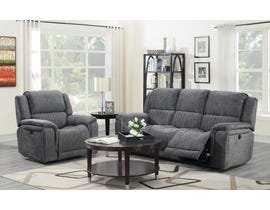 Kwality Suede Manual Reclining Sofa Set in Grey 6129