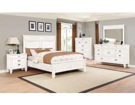 Lifestyle 6-Piece Queen Bedroom Set in White C6204
