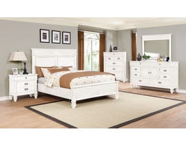 Lifestyle 6-Piece King Bedroom Set in White C6204