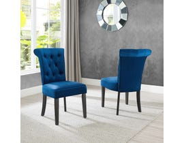 Brassex Ava Series Dining Chair (Set of 2) in Blue 6375-22BL