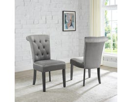 Brassex Ava Series Dining Chair (Set of 2) in Grey 6375-22GY