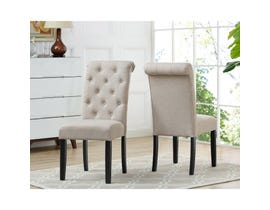 Brassex Tinga Side Chair Beige (Set of 2) 638-22-BE