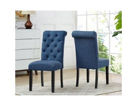 Brassex Tinga Side Chair Blue (Set of 2) 638-22-BL